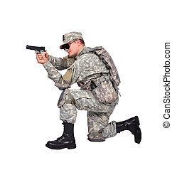 兵士, 銃, 私達