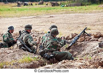 兵士, trenches