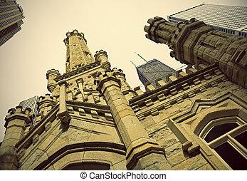 具有历史意义, 水塔, 在中, 芝加哥