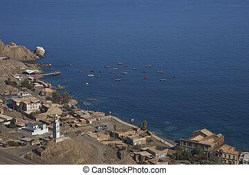具有历史意义, 沿海, 镇, 在中, pisagua