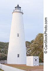 具有历史意义, ocracoke, 灯塔, 外部的银行, obx, nc, 我们