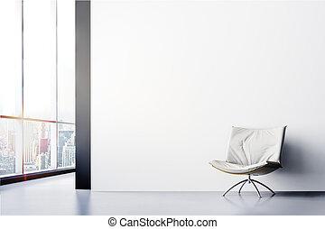 内側, render, 美しい, 現代, 3d
