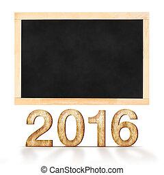 内容, 使用, 2016, ゴール, 付け加える, 黒板, リスト, 数, 背景, 缶, テンプレート, 年, 白, 木, あなたの