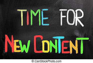 内容, 新しい, 概念, 時間