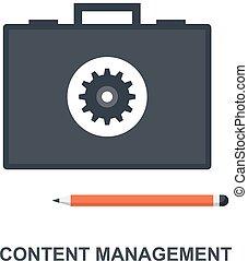 内容, 管理, 概念, 图标