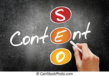 内容, seo, 概念, ビジネス戦略