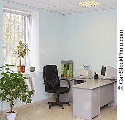内部, の, 現代, オフィス