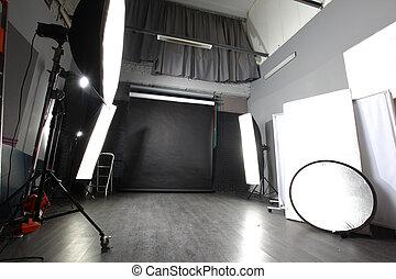 内部, の, 私, 現代, 写真の スタジオ