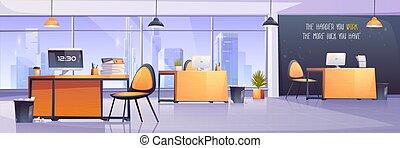 内部, オフィス, ビジネス, 仕事場, 現代