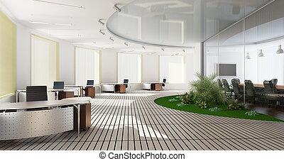 内部, オフィス, 現代