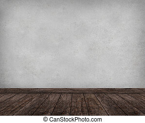 内部, グランジ, 壁, 木製である