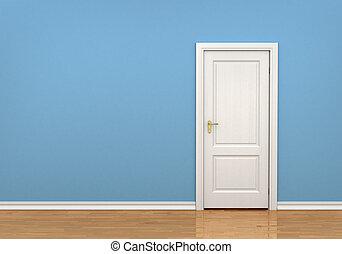 内部, ドア, 閉じられた, クラシック