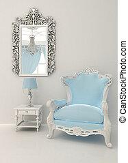 内部, バロック式, 贅沢, 家具