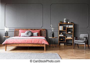 内部, パステル, 寝室, 肘掛け椅子