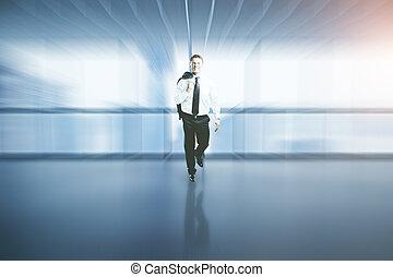 内部, ビジネスマン, blurry