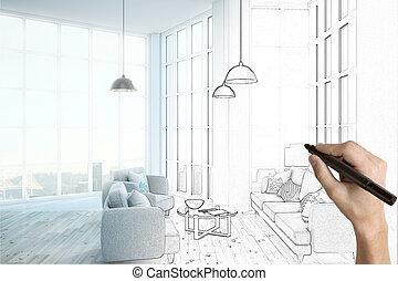 内部, プロジェクト意匠, 部屋