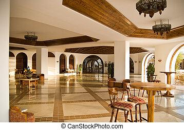 内部, ホテル