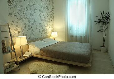 内部, ランプ, 寝室