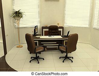内部, 仕事場, オフィス
