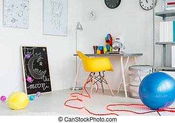 内部, 創造的, décor, スペース