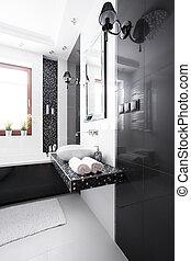 内部, 在中, 奢侈, 浴室