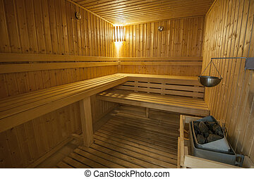 内部, 在中, 桑拿浴, 在中, 健康spa