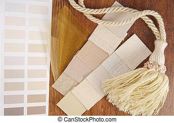 内部, 家具製造販売業, 選択, カーテン, 色