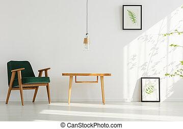 内部, 家, 緑, 肘掛け椅子