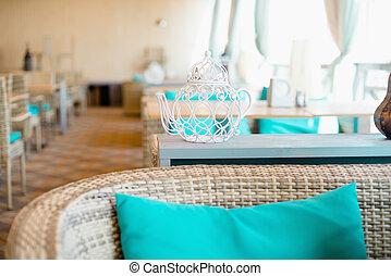 内部, 屋外, デザイン, 空, レストラン