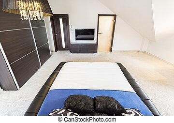 内部, 広い, 寝室
