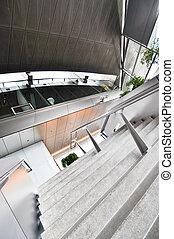 内部, 建物, 現代, オフィス