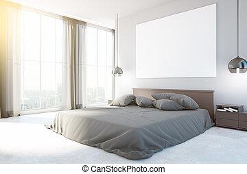 内部, 新しい, 寝室