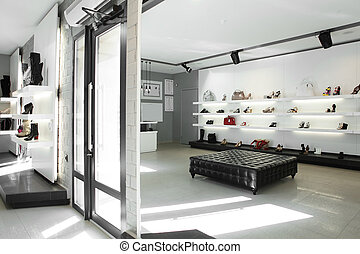 内部, 明るい, 贅沢, 店, 靴