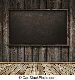 内部, 木製である, 黒板