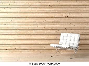 内部, 椅子, 木, デザイン