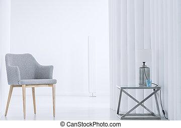 内部, 椅子, 白, 灰色