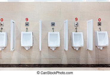 内部, 横列, 現代, しびん, restroom