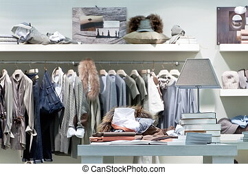 内部, 洋服屋, 小売り