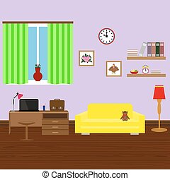 内部, 流行, 現代部屋