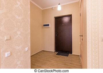内部, 玄関, 小さい, アパート, unfurnished