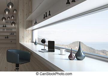 内部, 現代, デザイン, 部屋