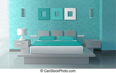 内部, 現代, 寝室