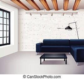 内部, 現実的, 概念, 屋根裏