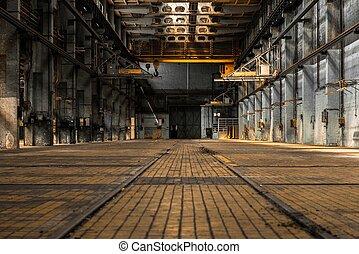 内部, 産業, 古い, 工場