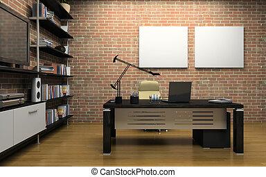 内部, 私用オフィス