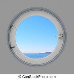 内部, 窓, ラウンド