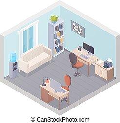 内部, 等大, 2, オフィス, 仕事場