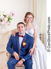 内部, 結婚式, 花嫁と花婿