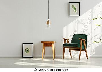 内部, 肘掛け椅子, 緑