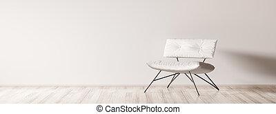 内部, 肘掛け椅子, 3d, レンダリング